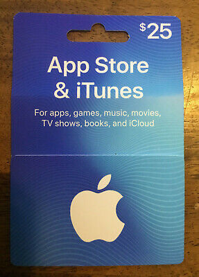 Apple App Store & iTunes Gift Card 25 for apps, games, music etc. $25 NEW