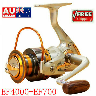 Spinning Fishing Reel EF4000-EF700 12BB Metal Spool Folding Arm Left Right AU