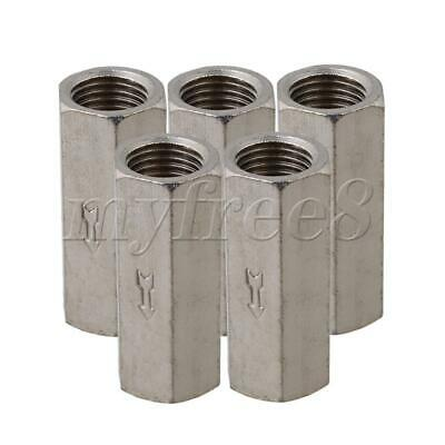 "5 Pieces 39mm Length 1/4"" BSPP Female Full Ports One Way Air Check Valve"