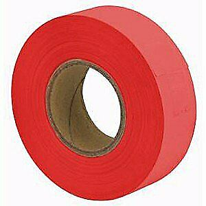 "Merco M229 Arctic Flagging Tape 1-3/16"" x 150'  Glow Red - Case of 144 Rolls"