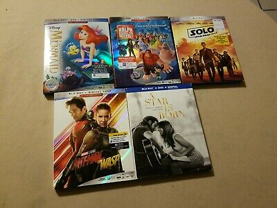 Lot of 8 4K /Blu-ray/DVD/Digital Classic Set--Mary Poppins/Incredibles 2 & More