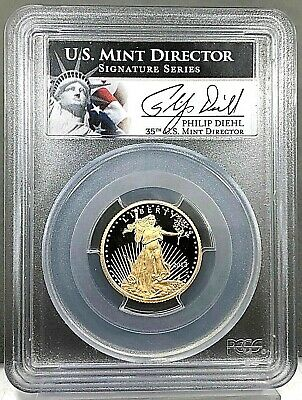 2013 W American Gold Eagle Proof 1/4 oz $10 PCGS PR69 Deep Cameo Diehl Sig Coin