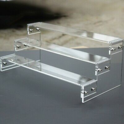 Acrylic 2-6 Tier Display Shelf Stand Showcase Action Figure Toys Cosmetics Multi