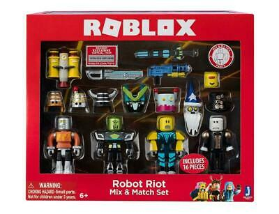 Roblox Robot Riot 4 Figure Pack Mix & Match Set Action Figure Toys Kids Gifts