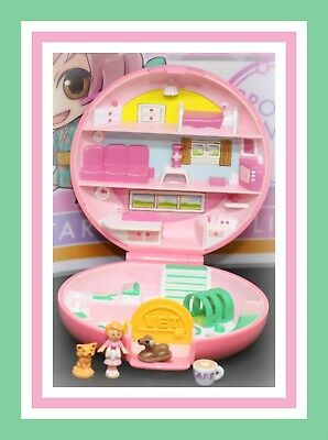 ❤️Polly Pocket Vintage 1989 Button's Animal Hospital COMPLETE Compact Bluebird❤️