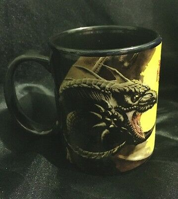 "Designer Tom Wood Ceramic Coffee Mug "" Scourge "" Gothic Fantasy Dragon"