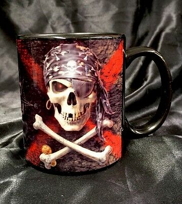 Anne Stokes Coffee Mug Cup Pirate Skull Bone China Fantasy With Gift Box New