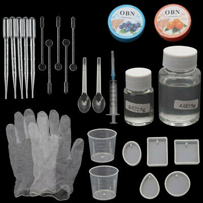 26Pcs Resin Casting Molds Jewelry Making Silicone Mould Metal Pendant Craft Kit