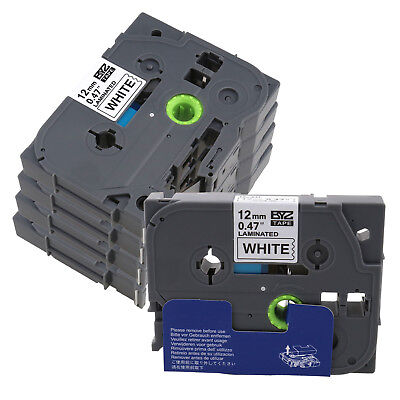 SD 5PK Black on White TZ-231 TZe231 Label Tape for Brother P-touch PT-310 12mm