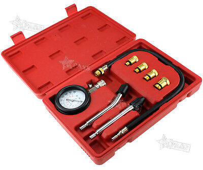 Automotive Motorcycles Petrol Engine Cylinder Compression Tester Tool Kit