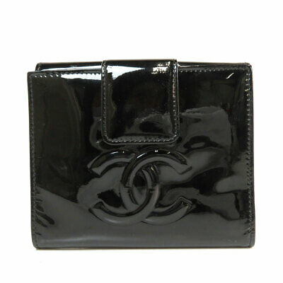 CHANEL   Bifold Wallet with Coin Pocket Camellia Patent leather