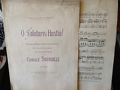 Camille Sourdille O Salutaris Hostia ! voix et piano ou orgue score partition