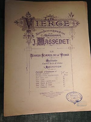 Massenet, transcriptions pour violon ou violoncelle et piano score partition