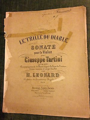 Tartini Sonate Le Trille du diable violon piano H. Léonard score partitions