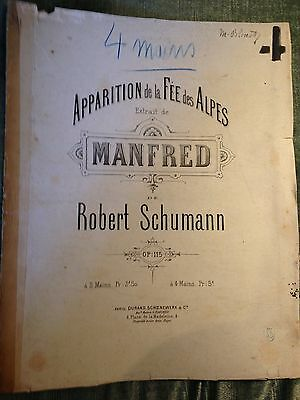 Schumann apparition de la fée des alpes Manfred score partition piano 4 mains