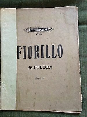 Fiorillo 36 études édition Peters 283 score partition