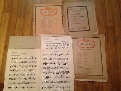 Fritz Kreisler 26 partitions violon piano score partition lot ou à l'unité