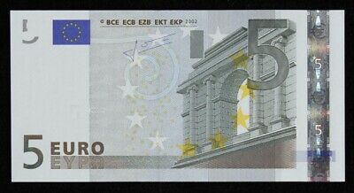 "European Union: GERMANY 2002 5 Euro PREFIX ""X"". Pick 8x UNC"