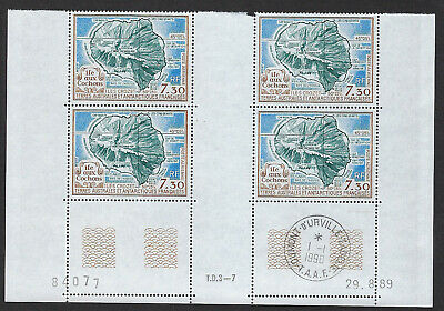 Timbre Taaf Neuf Pa N° 110 (Yvert) Coins Dates En Bloc De 4 Timbres Neufs N**