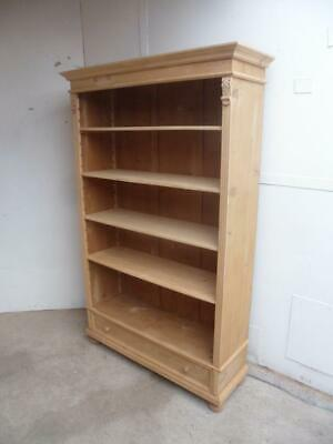 A Large Antique/Old Pine Adjustable Bookshelf/Office Shelf to Paint/Wax