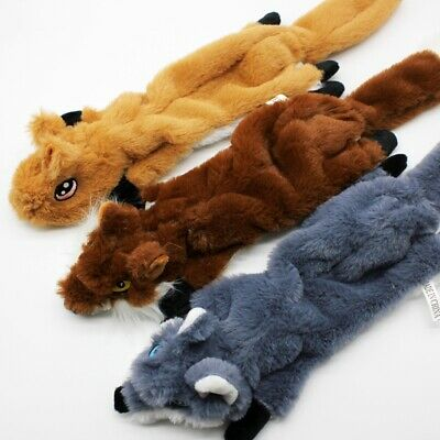 Dog Puppy Plush Squirrel Squeaker Toys Pet Squeaky Funny Sound Play Chew Toys
