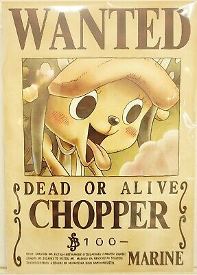 One Piece Wanted Poster Chopper News Official Mugiwara Store