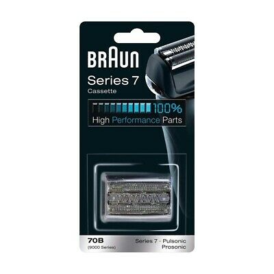 Braun 70B Shaver Replacement Foil & Cutter Cartridge Series 7 Pulsonic - BLACK