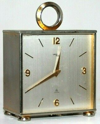 Antique Art Deco Imhof Swiss Double Sided 8 Day Partner's Desk Carriage Clock.