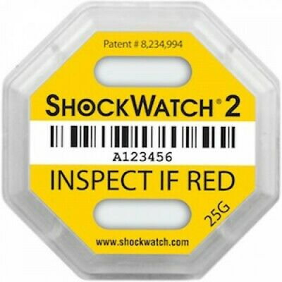 Shockwatch 2 Impact Indicator Labels - Pack Of 20