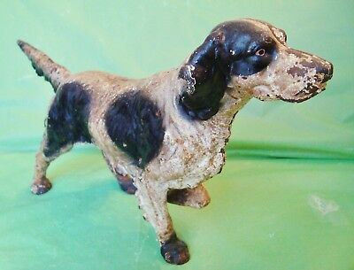 AUTHENTIC Antique RETRIEVER DOG CAST IRON DOOR STOP Hunting Dog POINTER DOG nice