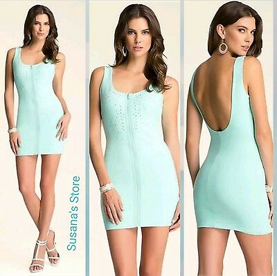 NWT BEBE Embellished Zip Dress SIZE L The perfect party dress MSRP $183