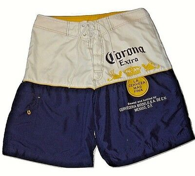 19a1114e36 CORONA EXTRA BEER Mens Summer Beach Board Swim Trunks Shorts Size 32 ...