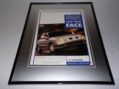 2000 Hyundai Elantra Framed 11x14 ORIGINAL Advertisement