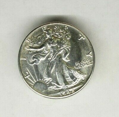 Liberty Walking Half Dollar 1942 Uncirculated Condition .......1465