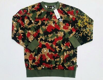 51f61d93d Adidas Originals CY7863 Camo Pharrell Williams Hu Hikings Crew - Men s M NWT