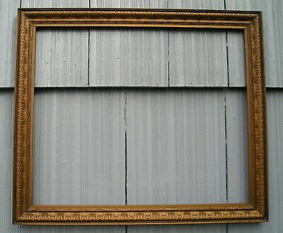 Vintage Rare Art Craft Art Nouveau Bronze Gold Gilt Ornate Picture Frame 15 x 18
