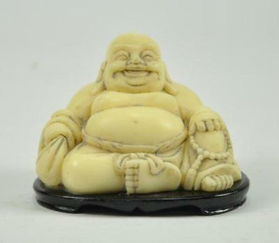 Vintage Old Chinese Happy Laughing Budai Buddha God Resin figurine statue