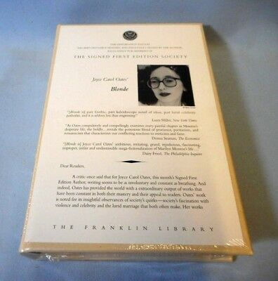 Sealed! The Franklin Library Signed 1St Ed - Blonde (Marilyn Monroe) By Jc Oates