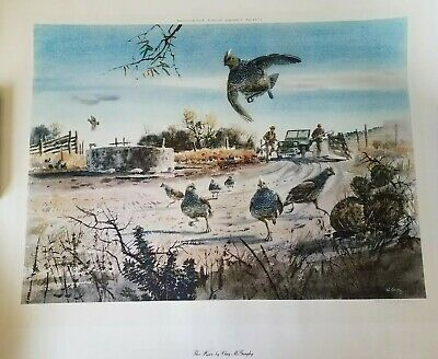 The Race by Clay McGaughy 1977 Lithograph Signed Limited Edition Print 363/500