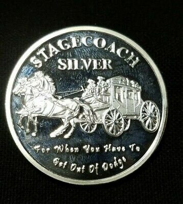 """Stagecoach Silver One Troy Ounce .999 Fine Silver Round  """" We Combine Shipping """""""
