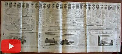 Chatelain 1720 Royalty chart France French Kings Louvre museum views print views