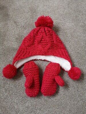 Marks And Spencer 18-36 Months 1-2-3 Years Hat And Gloves Set