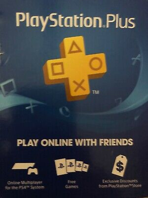 Sony PlayStation Plus 1 Year Subscription Membership Card - A9370319 Never activ