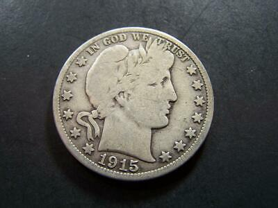 1915 S 50C Barber Half  & 1911-S  25C Circulated  90 % Silver   VF+  Details