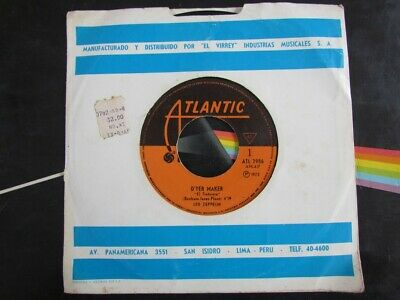 "Led Zeppelin Rock 7"" South America Peru Atl-2986 Spanish Titles ""el Tintorero"" 1"