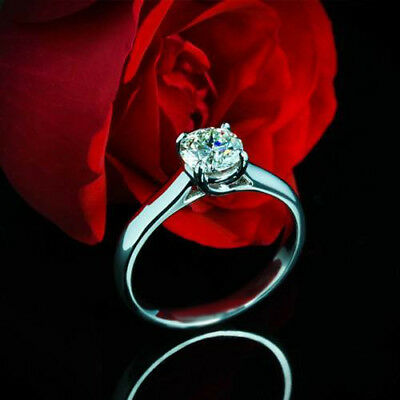 Solitaire .52 Ct VS2/F Round Cut Diamond Engagement Solitaire Ring White Gold