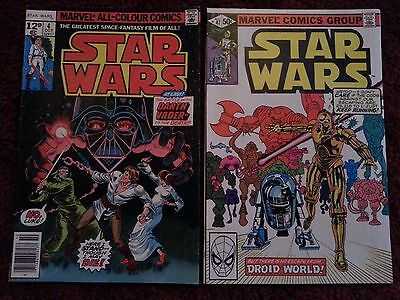 2 x Star Wars #4 & 47 - Marvel Comics - October 1977 - Based on the movie