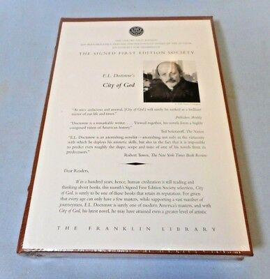 Sealed!  The Franklin Library Signed 1St Edition - City Of God By E.l. Doctorow