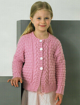 knitting kit for girls cabled cardi with dk yarn,buttons, James Brett pattern