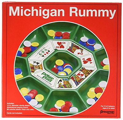 Michigan Rummy Classic Board Game Cards Playing Night Party Tripoly Fun Tray New